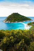 foto of yuan  - Nang Yuan island in Thailand with Bright blue sea - JPG