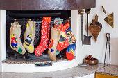 Chimney witch socks in ephiphany