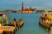 San Giorgio Maggiore Church at dusk, Venice, Italy