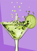 Abstract Cocktail And Lime
