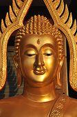 Aura de latón de cabeza de Buda