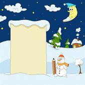 Winter funny illustration