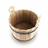 Open Wooden Bucket