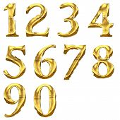 High quality old shining numbers.