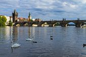 Charles bridge over river Vltava