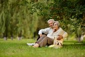 Mature couple in park