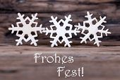 Snowflakes With Frohes Fest