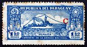 Postage Stamp Paraguay 1936 Gunboat Humaita