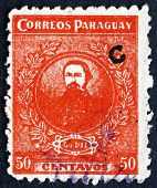 Postage Stamp Paraguay 1925 General Jose Eduvigis Diaz