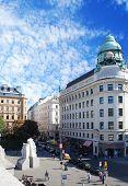 Albertina Square of Vienna at sunny day