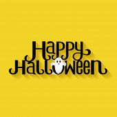 foto of happy halloween  - Happy Halloween Typography banner - JPG