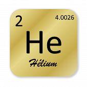 Helium element, french