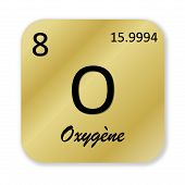 picture of oxygen  - Black oxygen element - JPG