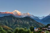Ghandruk village in the Annapurna region, Nepal, HDR photography