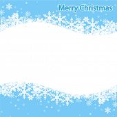 Illustration Snowflake, Christmas background. Vector.