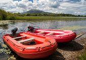 scenic boat lake landscape