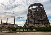 Old Cooling Tower Of The Cogeneration Plant In Kyiv, Ukraine