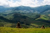 Summer Landscape In The Ukrainian Carpathians