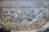stock photo of dalyan  - Mosaic in Kaunos Church - JPG