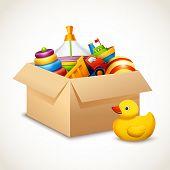 Toys in box