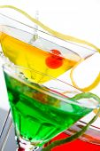 Three refreshing citrus cocktails  Lime Orange and Lemon