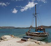 Sailing yachts race in Greece