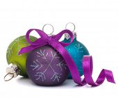 Christmas ball isolated on white background cutout