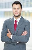Confident young businessman portrait outdoor