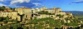 panorama of Gordes medieval village on sunset , Provance. France