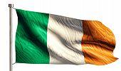 Ireland National Flag Isolated 3D White Background