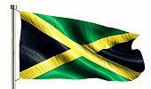 Jamaica National Flag Isolated 3D White Background
