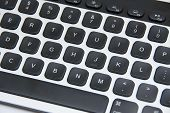 Modern Aluminum Computer Keyboard Isolated On White Background