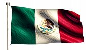 Mexico National Flag Isolated 3D White Background