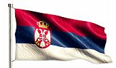 Serbia National Flag Isolated 3D White Background