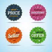 Special Set Of Premium Sale Badges In Flat Style.