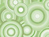 Abstract Retro Vector Background with circles. Decorative background with green toned concentric cir