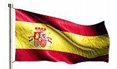 Spain National Flag Isolated 3D White Background
