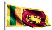 Sri Lanka National Flag Isolated 3D White Background