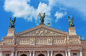 Facade Of Solomiya Krushelnytska Lviv State Academic Opera And Ballet Theatre