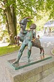 Boy And Goat Sculpture (1925). Stavanger, Norway