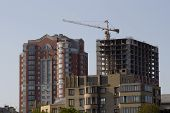 Construction Of New Homes Near The Pushkin Boulevard In Donetsk