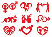 Man Woman Relationship Vector Icon Set