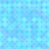 Blue Sparkling Abstract Seamless Pattern Background from Rounds