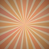 Fanning Rays Abstract Geometric Background with Exploding Stripes in Vintage Shades of Orange, Brown
