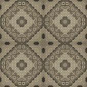 3D Rhomb Seamless Pattern In Ocher