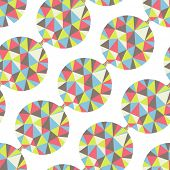 Geometric seamless pattern with gems. Vector illustration.Can be used for wallpaper, pattern fills,