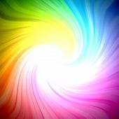 Sparkling rainbow colors light burst