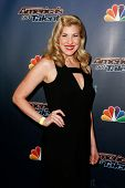 NEW YORK-AUG 20: Singer Emily West attends the backstage post-show red carpet for NBC's 'America's Got Talent' Season 9 at Radio City Music Hall on August 20, 2014 in New York City.