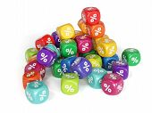 Colorful Percent Dices
