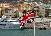 City Of Nice, France - British Flag In A Port De Nice